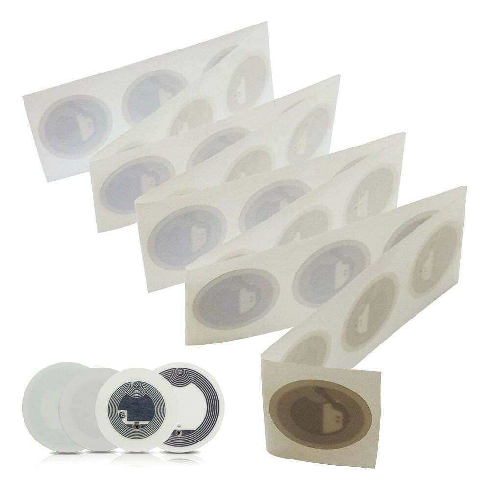 NFC Sticker, 30 mm, NTAG 215, 540 byte, White